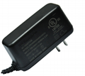 24W dc  power adapters for STB, DVB, vertical type
