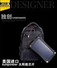 Waterproof Solar Backpack bag for Ipods Iphone