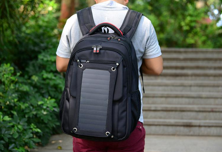 Waterproof Solar Backpack for charge to all kinds of mobile device for outdoor  2