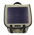 商业帆布太阳能充电背包