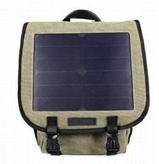 商業帆布太陽能充電背包
