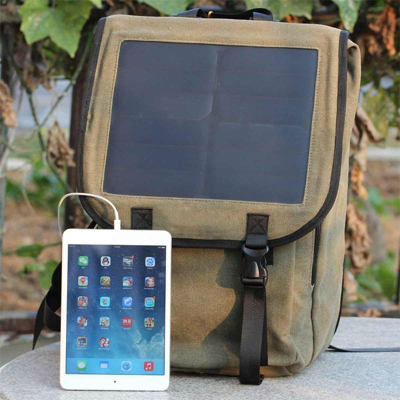 Business Canvas Solar Power Charger Bag 10