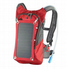 Solar backpack with water cup