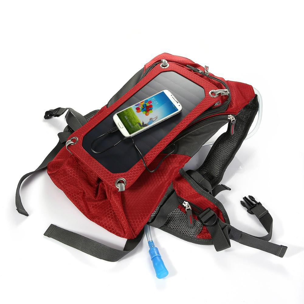 Solar backpack with water cup 3