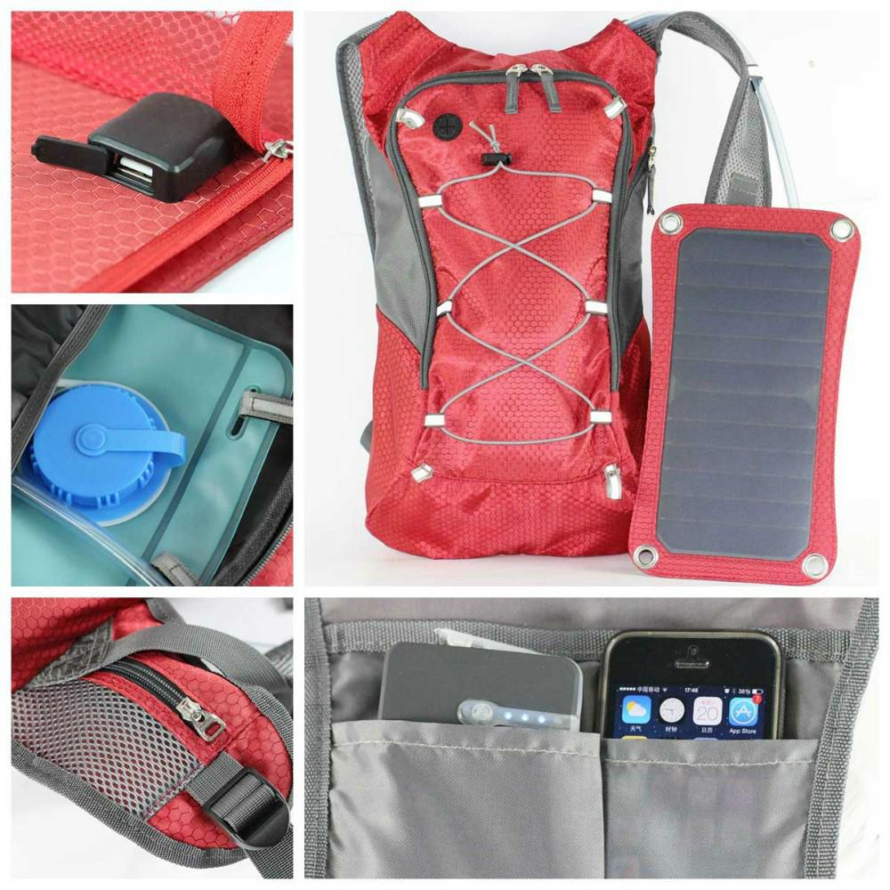 Solar backpack with water cup 8