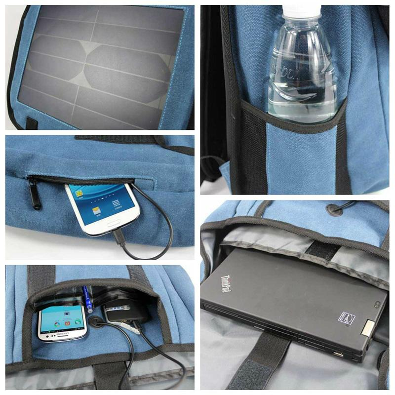 2017 New fashion portable solar backpack with 10W Solar Panel 6