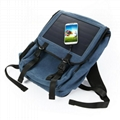 2017 New fashion portable solar backpack with 10W Solar Panel