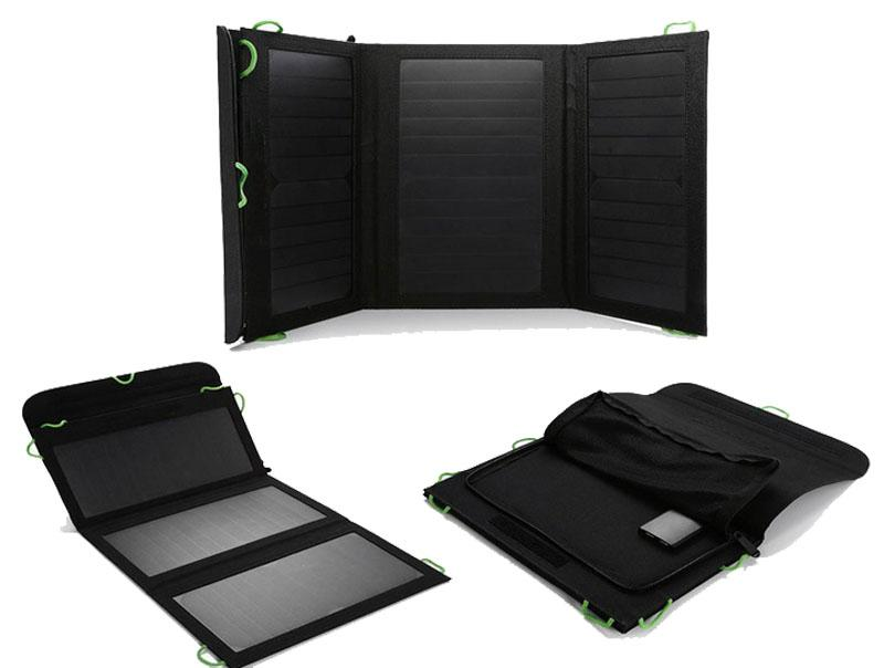 5V and 12V output, 20W foldable solar charger 1