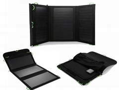 5V and 12V output, 20W foldable solar charger