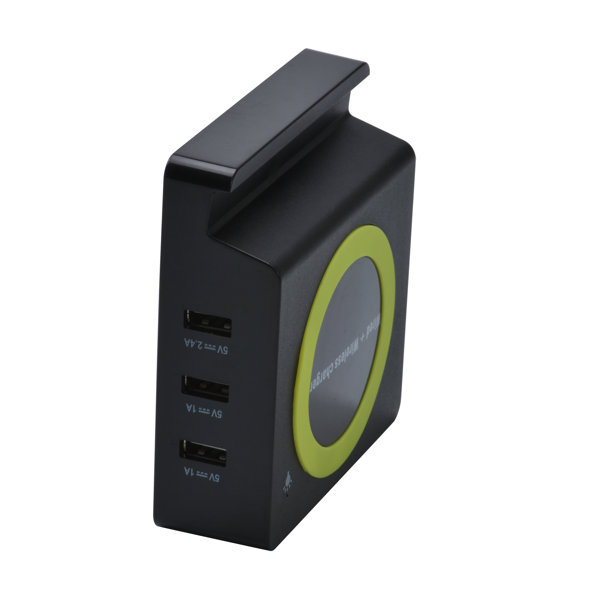 Fast Qi wireless charger station with 3 USB ports 2