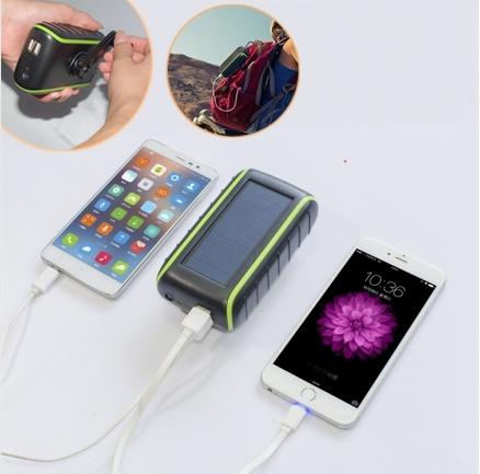 Hand Crank Solar Charger universal 5400mah solar powerbank 3