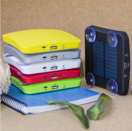 portable solar mobile phone charger 1800mah 2600mah 5200mah Square Suckers Style 3