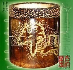 竹雕笔筒 3