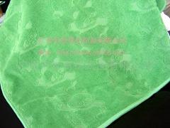 超細纖維提花割絨毛巾浴巾