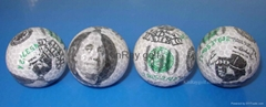 Currency golf ball