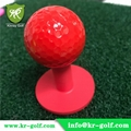 UV-Glow Golf Balls on Neon Golf Rubber