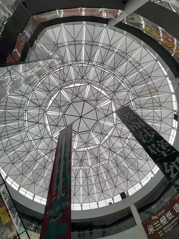 大型玻璃穹顶电动遮阳帘 1