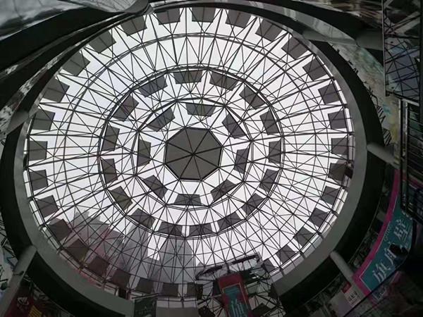 大型玻璃穹顶电动遮阳帘 2