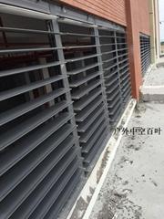 戶外消防風口電動中空平板排煙百葉窗