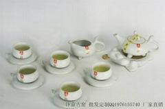 汝窑茶具套装批发 汝窑功夫茶具批发 汝瓷茶具套装
