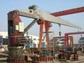 Ship deck crane provision crane hose