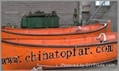 Ship lifeboat and davit