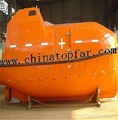 Totally enclosed lifeboat for cargo vessel and oil tanker