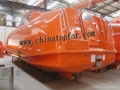 Enclosed FRP lifeboat for oil tanker