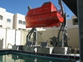 Lifeboat with davit for training center
