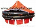 Liferaft personnel transfer basket marine evacuation chute
