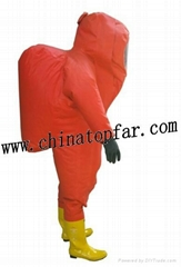 Heavy duty type chemical protective suit for marine useage