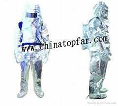 Fireman protective suit Heat insulation suit Aluminum foil fire protective suit