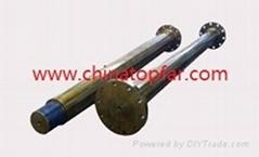 Ship propeller shaft, rudder shaft,