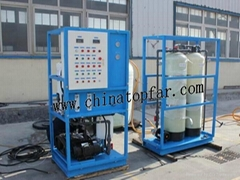 Seawater desalination equipment, Sea water desalination plant on board ship