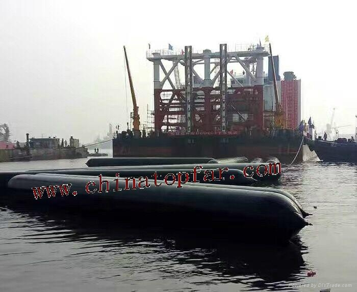 Marine Air bag for ship launching Salvage Rubber pontoon 5