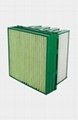 Pleated compact air filter for gas turbnine