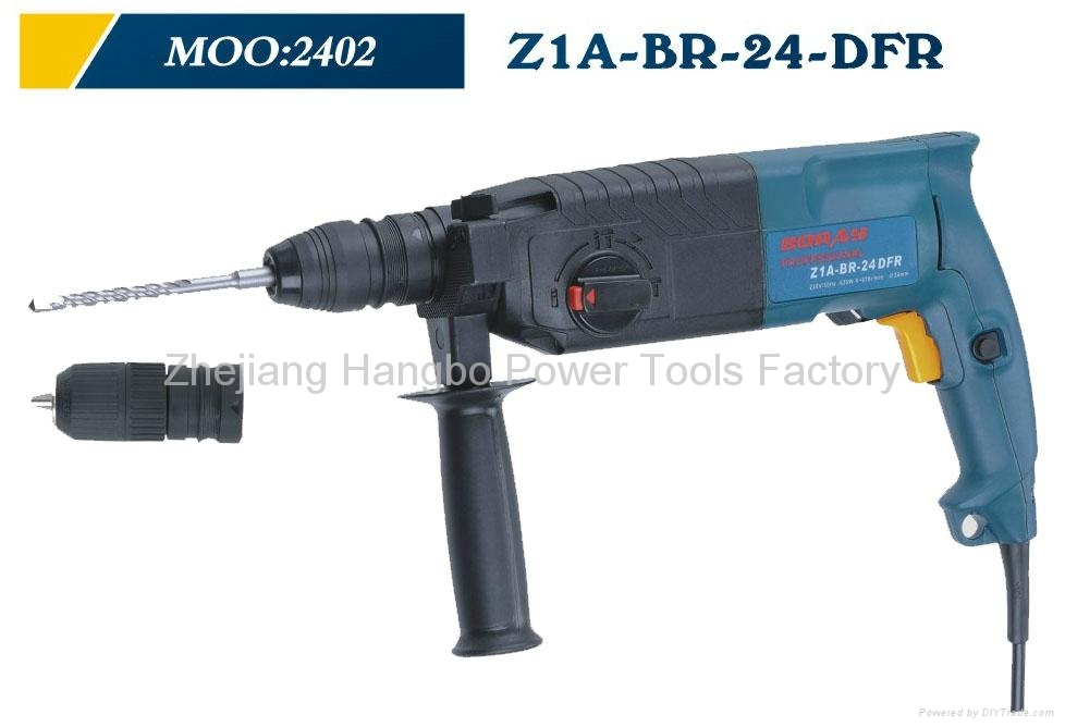 Powerful Rotary Hammer 24mm DFR in BOSCH type 2