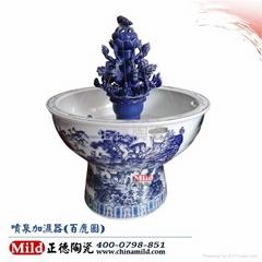 落地陶瓷噴泉