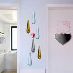 Resin flower bottle for wall decoration