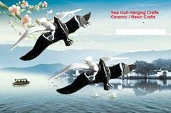 Wall Arts Wall Crafts (Hanging Sea Gull crafts)