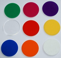 clear acrylic disc 2mm 3mm thick