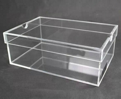 hupbox clear acrylic shoe box