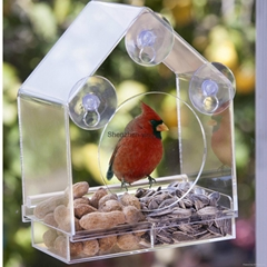 Custom acrylic bird feeder