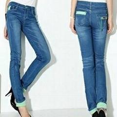 OEM women ladies girls Jeans Denim factory manufacture fashion wholesale 10