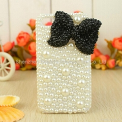 pearl case bow phone case for iPhone 4 4S