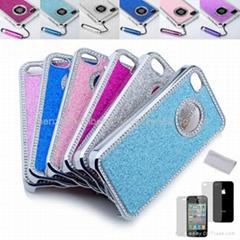 Luxury Bling case Diamond Chrome rhinestone Hard Case For iPhone 4 4S 4G