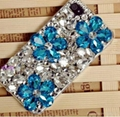 flower crystal diamond case for iphone 4 4s mobile phone case 1