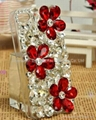flower crystal diamond case for iphone 4 4s mobile phone case 2