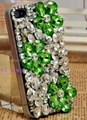 flower crystal diamond case for iphone 4 4s mobile phone case 3