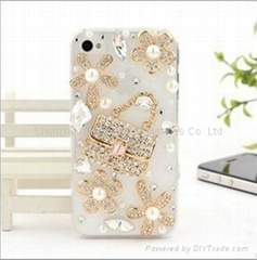 diamond bag case for iphone 4/4s